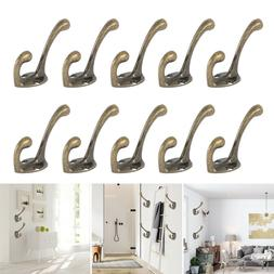 10X Vintage Style Rustic Cast Iron Wall Coat Hooks Hat Hook