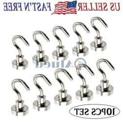 10x16mm Dia Strong Magnetic Hook Hanger N52 Neodymium Clampi