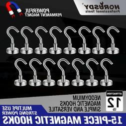 12Lb Heavy Duty Magnetic Hooks With Stickers Strong Powerful