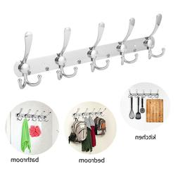 15 Hooks Stainless Steel Coat Robe Hat Clothes Wall Mount Ha