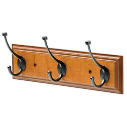 """Franklin Brass 16"""" Hanging Coat Rack Wall Mounted Rail Clo"""