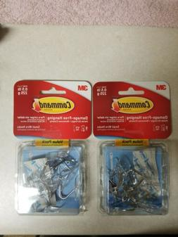 3M 17067CLR-VP Clear Wire Hooks w/ Clear Adhesive Strips 2 V