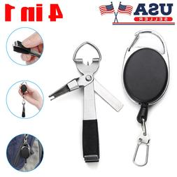 4 in 1 Fishing Quick Nail Knot Tying Tool Fast Hook Fly Clip