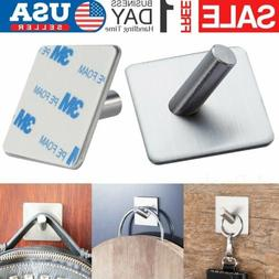 4X Strong Self Adhesive Stainless Steel Hooks Kitchen Bathro