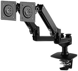 AmazonBasics Premium Dual Monitor Stand - Lift Engine Arm Mo