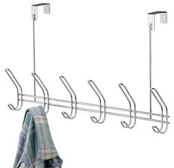 InterDesign Classico Over Door Organizer Hooks – 6 Hook St