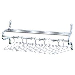 """Safco Products 4164 Shelf Rack with Hangers, 48""""W , Chrome"""