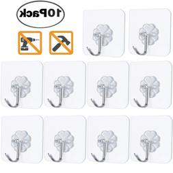 FOTYRIG Adhesive Hooks Heavy Duty Wall Hangers Without Nails