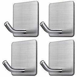 Adhesive Hooks Robe & Towel Wall Hanger Bathroom Office For