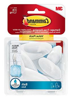 Command 076308728595 Bath Value Pack, Clear Frosted, 6-Hooks