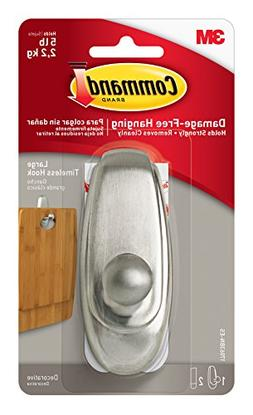 3M Large Brushed Nickel Command Timeless Hook
