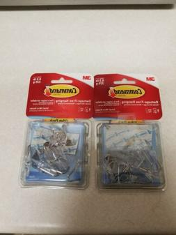 3M COMPANY Clear Wire Hooks w/ Clear Adhesive Strips Value P