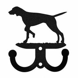 SWEN Products ENGLISH POINTER Metal 2 Hook Key Chain Holder