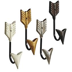 Midwest-CBK Follow Your Arrow Single Wall Hooks Set of 4 Pai