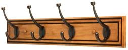 Liberty Hardware 27 in. Galena Coat and Hook Rack with 4-Pil