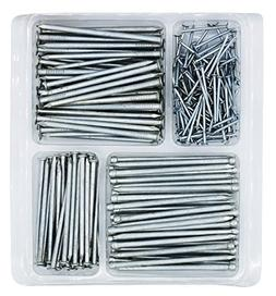 Hardware Nail Assortment Kit, Includes Wire, Finish, Common,
