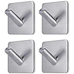 Heavy Duty Adhesive Wall Hooks Hangers Stainless Steel Towel