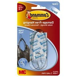 Command Hook, Large, Clear, 2-Hook