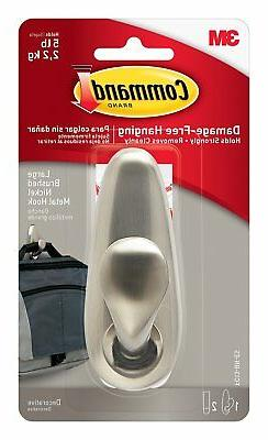 3M 93966 Command 390341 Large Forever Classic Brushed Nickel