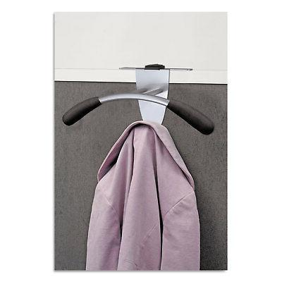NEW - Over-The Panel Garment Partition Valet, Silver/Black,
