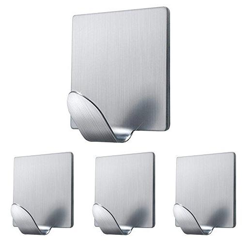 Adhesive Hooks, Wall Hooks Heavy Duty Wall Hangers Stainless