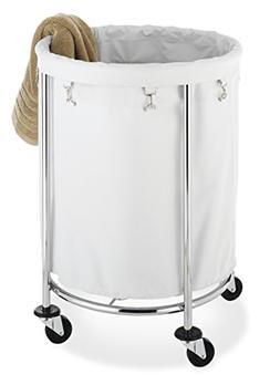Laundry Cart - Steel, Polyester - Chrome