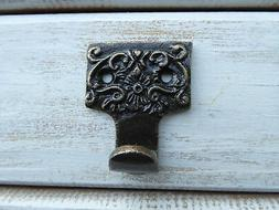 Oil Rubbed Bronze Small Ornate Wall Hook Organization Holder