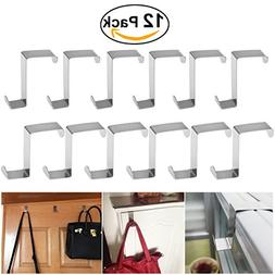 BESTOMZ 12pcs Over Door Hanger, Stainless Steel Over Door Ho