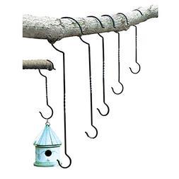 Outdoor Plant Hanging Hooks - Set of 6 - for Baskets, Bird F