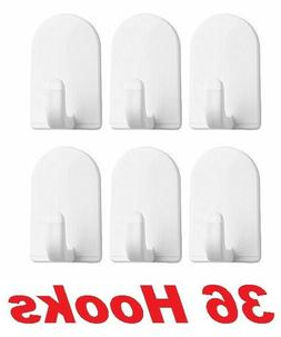 InterDesign 14101 White Plastic Hook With Self Adhesive Back