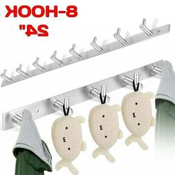Stainless Steel Coat Robe Hat Clothes Wall Mount Hanger Towe