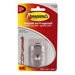 Command Timeless Hook, Small, Brushed Nickel, 1-Hook