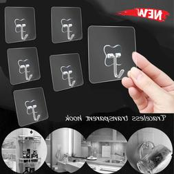 Transparent Seamless Adhesive Hook Storage Hanger Wall Rack